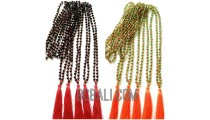 crystal beading necklaces tassels mono color