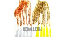 crystal beads necklaces tassels mono color style