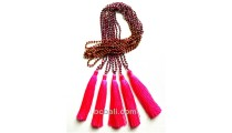 tassel necklaces beaded crystal solid color