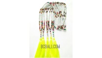 tassel necklaces beading multi color seeds long