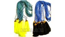bali tassels necklaces stone beading handmade