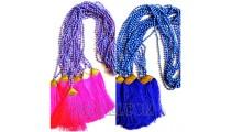 2 color fashion necklaces bead stone pendant tassel