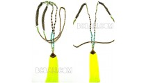 fashion new tassels antique gold long necklaces