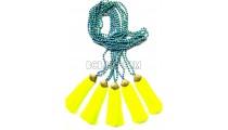golden chrome tassel yellow stone bead necklaces