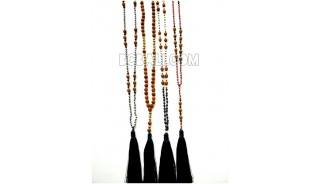 mix tassels mala beaded necklace yoga bali