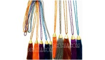 necklaces crystal bead pendant tassels handmade