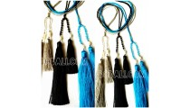 necklaces tassels beads crystal double pendant