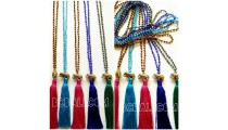 tassels necklaces crystal beads pendant elephant golden
