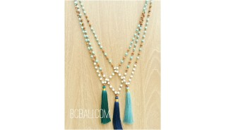 bali handmade necklaces tassels pendant design