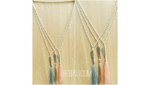 beads necklaces pendant tassel bronze wing charms