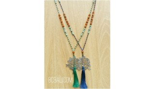 exotiq tassel bead mix two color pendant tree of life bronze