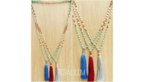 tassels necklaces beads stone rudraksha women style