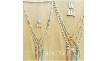 tassels necklaces charms crystal beads indian style