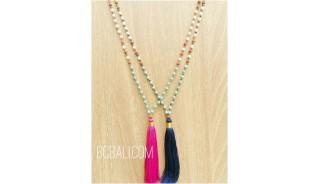 women tassels beads stone pendant tassels rudraksha