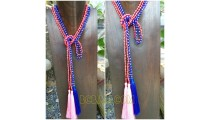 2color double necklaces scarves beads crystal