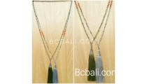bronze cup silver exclusive tassels necklaces bead bali