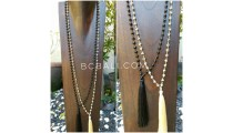 bali tassels necklaces ceramic bead two color