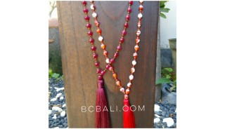 ceramic beads necklace tassels fashion two color