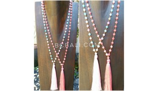stones ceramic beads prayer handmade necklaces