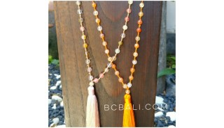 transparent ceramic beads bali tassels necklaces designs