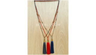 exclusive golden king cup tassels beads necklaces 3color