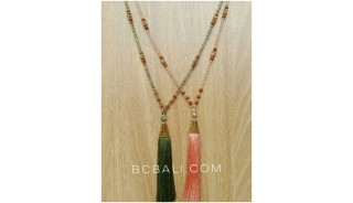 golden cup exclusive necklaces tassels crystal bead
