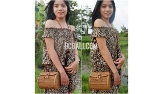 ata grass rattan cylinder design full handmade hand woven bag purses
