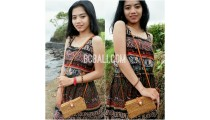 bali ethnic rattan grass handmade handbag leather handle