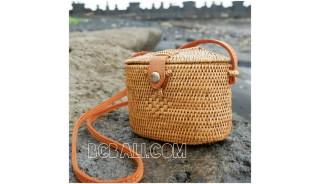hand woven ata grass rattan balinese bags handmade small