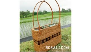 women ladies handbag from grass straw hand woven