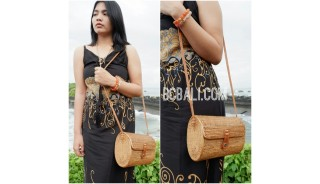 women handbag rattan hand woven ata bali full handmade ethnic design