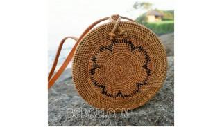 ata rattan hand woven handbags around motif ethnic bali design
