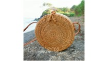 circle around handbags straw rattan hand woven grass handmade motif side