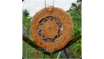 ethnic design circle star handmade handbag rattan handwoven ata grass