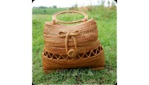 handbag rattan hand woven ata grass balinese natural design