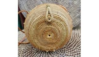 new ata rattan hand woven round circle design ethnic handmade