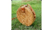 small circle star design handbag rattan grass hand woven handmade