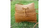unique handmade bag classic style kiso rattan hand woven ata grass