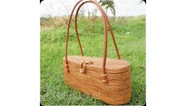 women handbag rattan handwoven grass unique full handmade