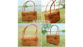 casual ethnic design ata grass rattan bags purse full handmade process