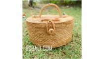 cosmetic circle design smal bags ata grass handwoven bali style