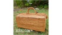 cosmetic women handbag large size handmade straw rattan