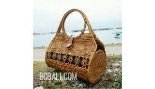 ethnic handmade handbag rattan grass ata unique design made bali
