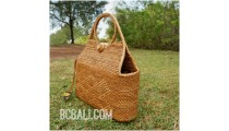 full handmade handwoven handbag balinese ethnic design natural