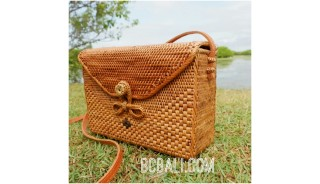 ladies school bags ethnic design handwoven natural grass leather