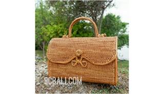natural ata grass rattan handbag balinese full handmade
