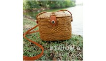 purses bag wallet coin ata grass leather long handmade bali