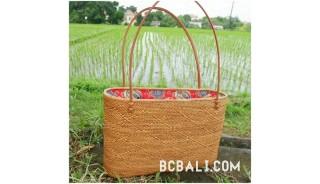 rattan grass ata balinese handbag design full handmade ethnic style