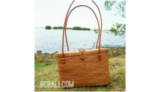 straw grass ata handwoven handmade handbag oval fashion handmade