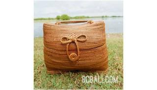 unique handwoven full handmade natural ata grass handbag bali